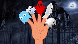 Finger Family Ghost | Funny Halloween Finger Family Nursery Rhymes | Kids Song