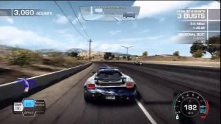 NFS Hot Pursuit Gameplay (Hot Pursuit mode Heavy Hitters driving the Porsche Carrera GT)