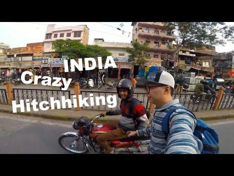 Hitchhike Travel in India - Jaipur - Agra by Skateboard | GoPro Hero5