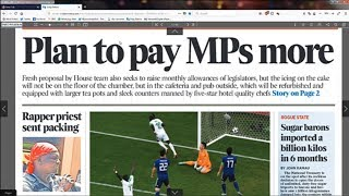 Power Breakfast: Newspaper review: MPs want pay increment