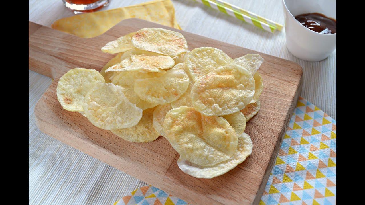 Patatas chips al microondas receta f cil youtube for Cocinar en microondas