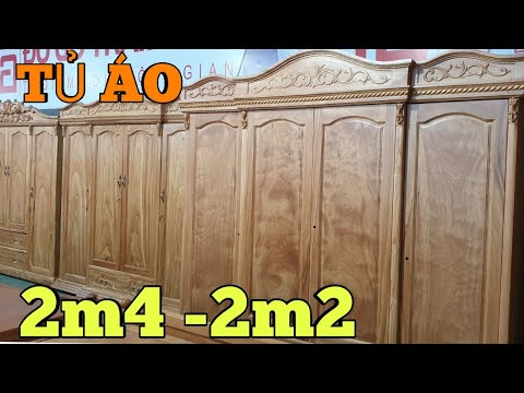 Tủ áo nữ hoàng gõ đỏ 2m4-2m2 #Shorts