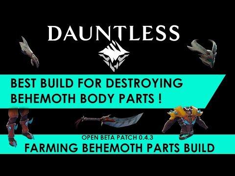 Dauntless - Best Build For Breaking Behemoth Parts [Build Guide]