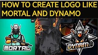 How to make logo like Mortal and Dynamo in 5minute | #logo #gaminglogo #sohamstv |
