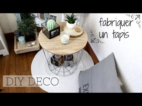 diy deco i comment fabriquer un tapis rond i tuto hyper facile et non couteux youtube. Black Bedroom Furniture Sets. Home Design Ideas