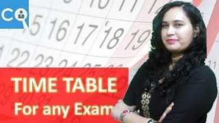 किसी भी Exam का Time Table कैसे बनाये | How to make Time Table for any Exam
