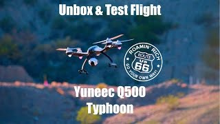 Yuneec Q500 Typhoon Unboxing and Test Flight over Route 66 USA ENGLISH