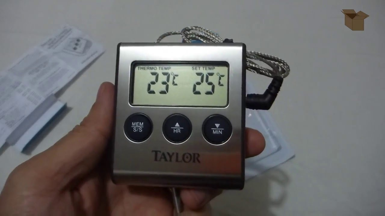 Unboxing Taylor Digital Cooking Thermometer With Probe And Timer