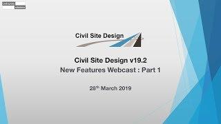 Civil Site Design - Webcast - v19.20 New Features : Part 1