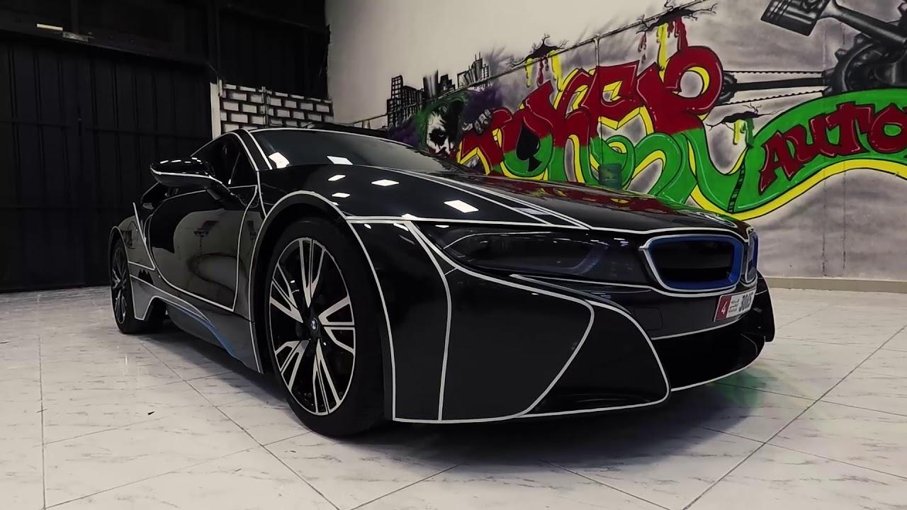 Bmw I8 Custom Tron Reflective Lines Done By Joker Automotive Youtube