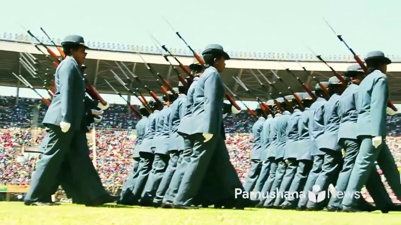 Zimbabwe National Army Defence Forces Day 2018 Slow Time Drill