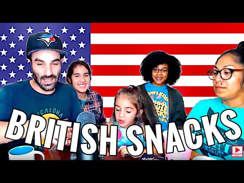 AMERICANS TRY BRITISH JUNK FOOD - AMERICANS REACT TO BRITISH JUNK FOOD SNACKS CANDY