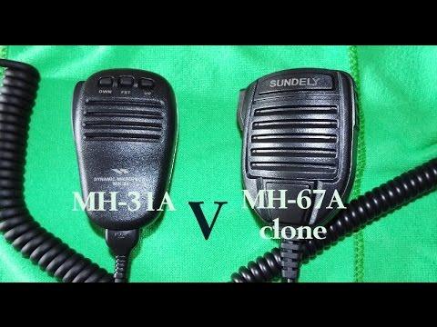 Yaesu MH-31a V MH-67a (cheap China clone) mic tested with Yaesu 450 D