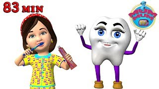 Brush Your Teeth Healthy Habits Songs with Lyrics & The Best Nursery Rhymes Collection | Mum Mum TV