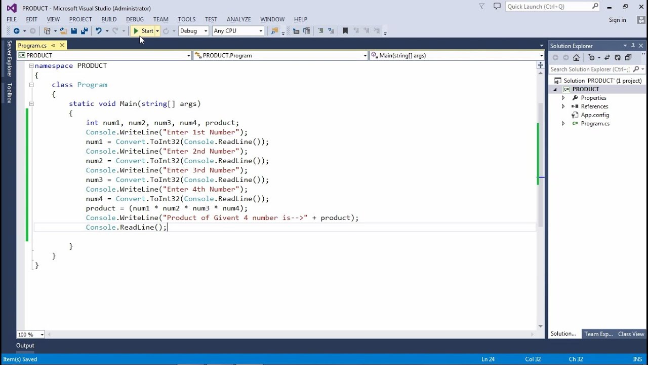 How To Run C Basic Program Using Visual Studio Youtube