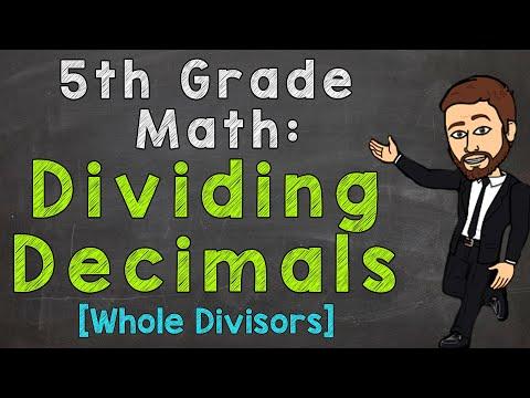 Dividing Decimals - Whole Number Divisors   5th Grade Math
