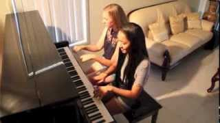 Bad Romance/Pokerface Piano Duet Mashup - Lady Gaga - Cover by Eliza De Castro and Darcie Rehbein