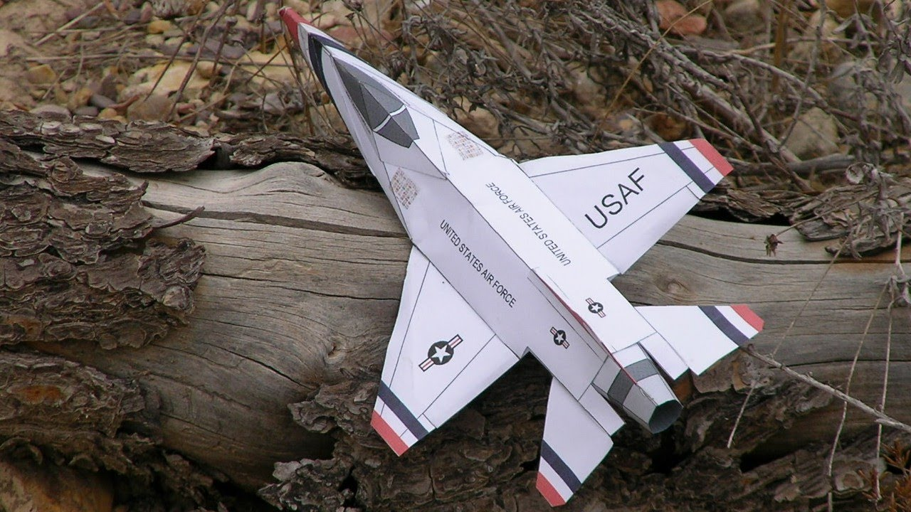 Papercraft F-16  Paper Airplane 3D model
