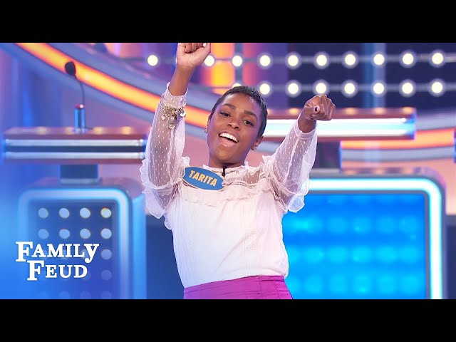 Tarita and Nae play for 20 Gs!   Family Feud