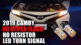 Fit Toyota Camry 2018 2019 Red LED Bumper Brake Lights w// Sequential Turn Signal