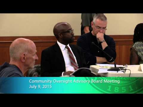 Community Oversight Advisory Board Meeting 7/9/2015