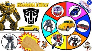 TRANSFORMERS BUMBLEBEE MOVIE Spinning Wheel Slime Game w/ New Transformers BotBots Toys