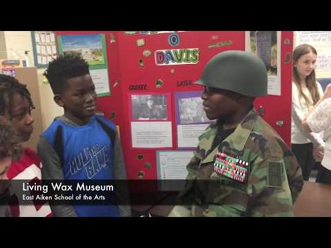 Living Wax Museum at East Aiken School of the Arts