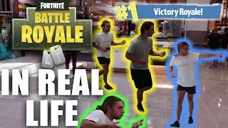 PLAYING FORTNITE BATTLE ROYALE IN REAL LIFE **public prank**