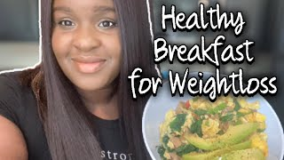 HEALTHY WEIGHTLOSS BREAKFAST | HOW TO COOK A SCRAMBLED OMELETTE| COOKING WITH CASS