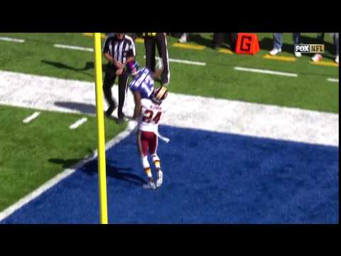 Josh Norman Carries Odell Beckham Jr. in the End Zone! | Redskins vs. Giants | NFL