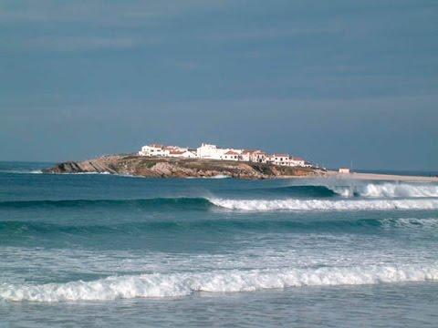 Surf Praia Do Baleal Peniche Portugal YouTube - Portugal map baleal