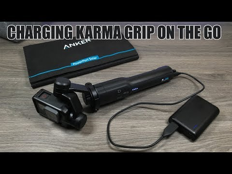 charging karma grip on the go power bank solar charger youtube. Black Bedroom Furniture Sets. Home Design Ideas
