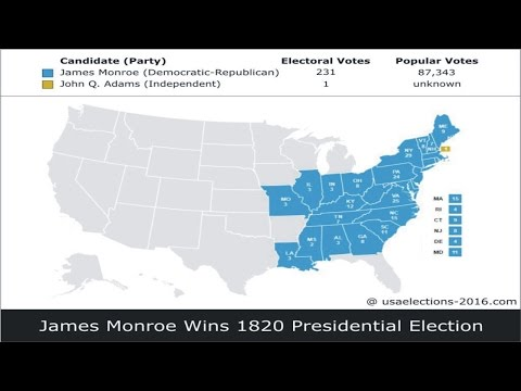 1820 US Presidential Election Result
