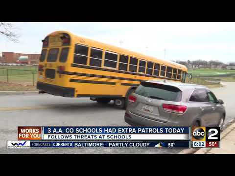 Anne Arundel County Schools had extra patrols following several threats