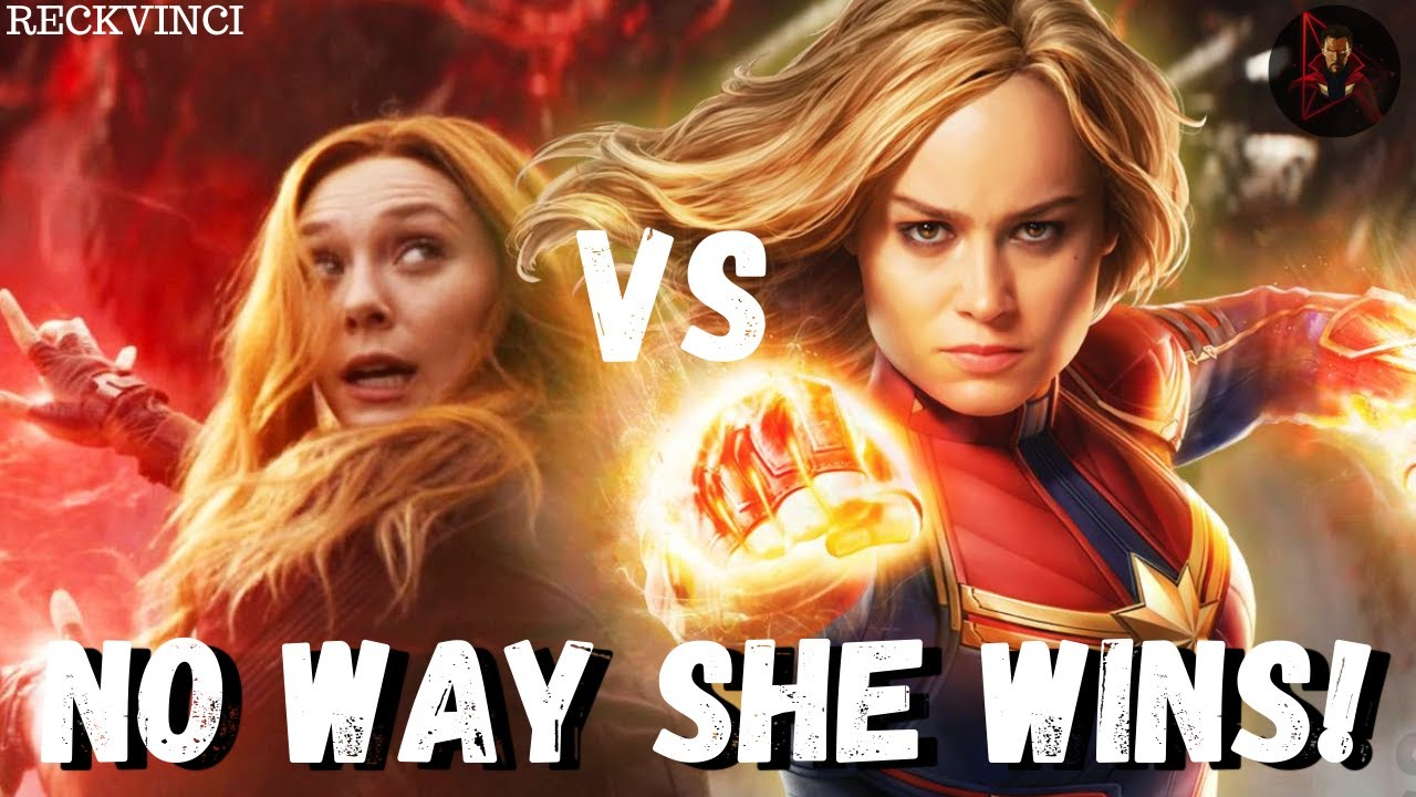 Download Scarlet Witch Vs Captain Marvel: Most Powerful Avengers In The MCU