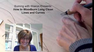 pyrography how to woodburn long lines and curves