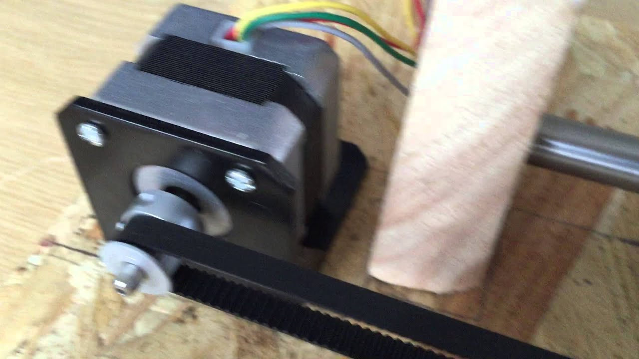 Barduino Working Timing Belt Via Stepper Motor Youtube