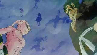 Hercule  mocks kid BUU and BUU gets spit out of kid BUU