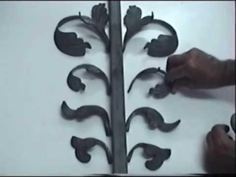 Como emplear hojas de hierro forjado youtube - Sillas en hierro forjado ...