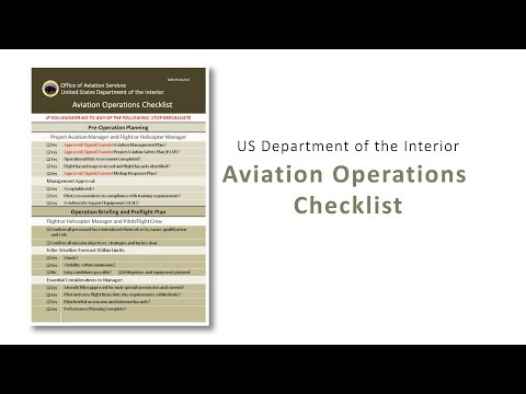 Aviation Operations Checklist Overview - YouTube