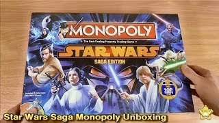 Star Wars Saga Edition Monopoly Unboxing (Winning Moves)