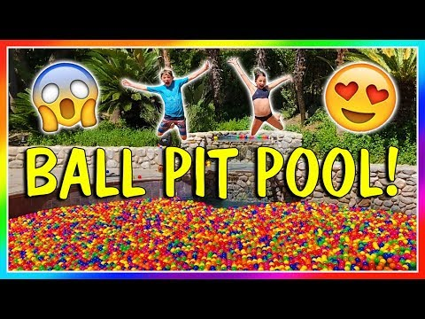 IT'S A BALL PIT IN OUR SWIMMING POOL! | We Are The Davises