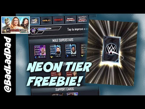 WWE SuperCard Season 5 Neon Tier Freebie!