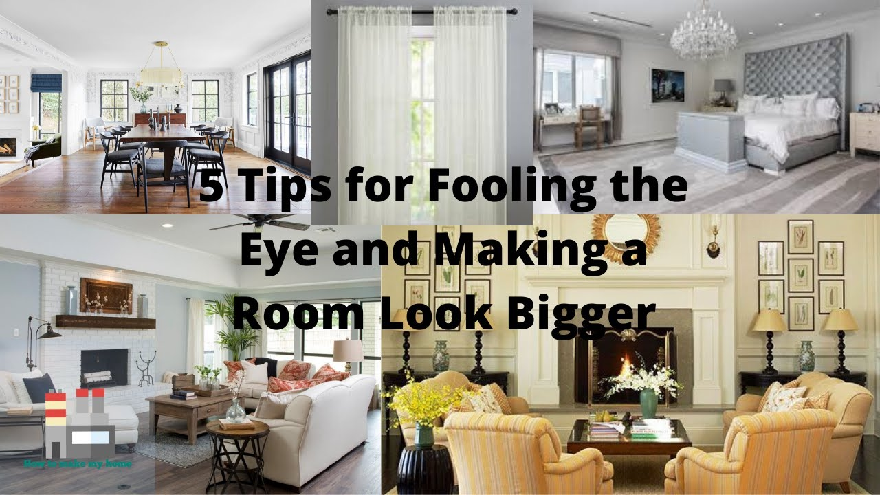 Tips For Fooling Eye And Making A Room Look Bigger Smart Ideas How To Make Small Room Look Bigger Youtube