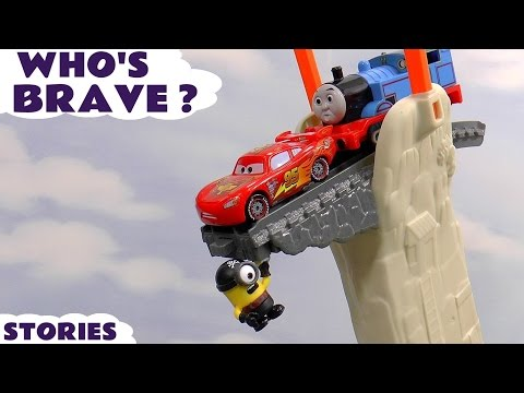 Thomas and Friends Who's Brave Disney Cars Toys Minions TMNT and Batman Stories | Halloween Play Doh