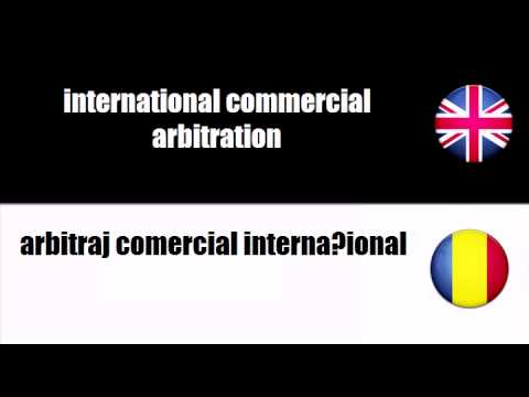 ENGLISH ROMANIAN   commercial arbitration