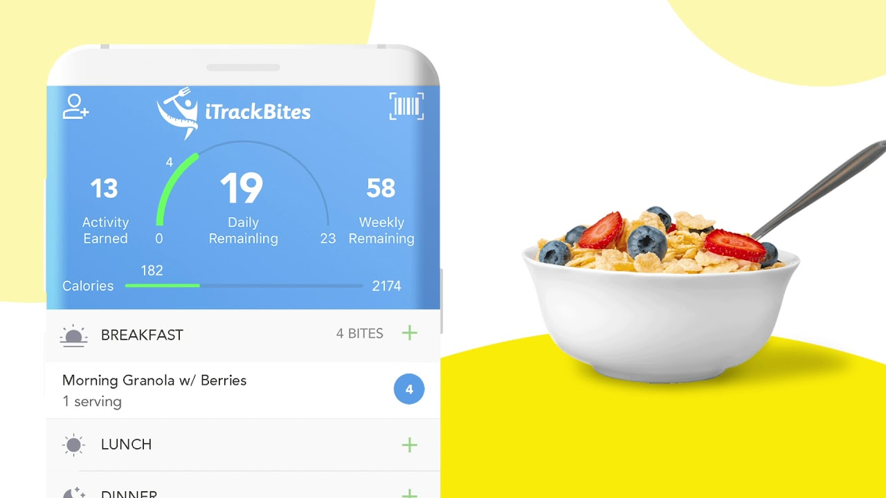 iTrackBites - Diet Tracker & Weight Loss Diary - by Sunshine