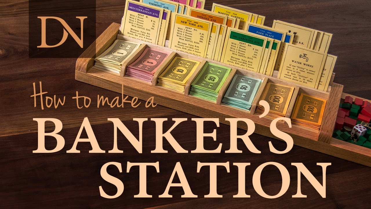 How To Make A Bankers Station For Monopoly
