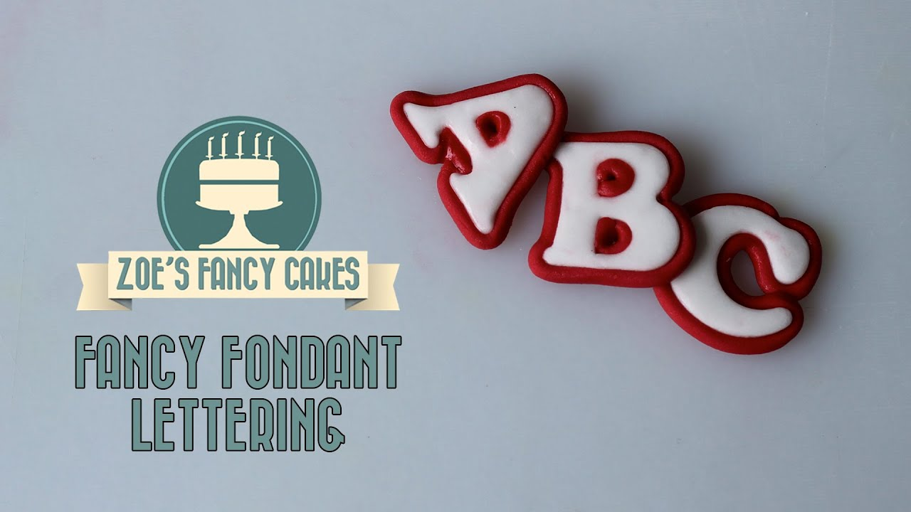 making fancy lettering text for cake decorating how to tutorial