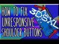 how to fix unresponsive 3ds XL shoulder buttons